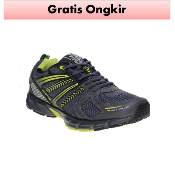 Sepatu Sneakers Olahraga Pria Spotec Jagger Abu Tua Hijau Cerah ... 11407ca47f
