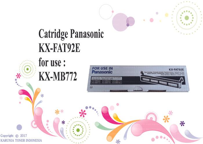 harga Catridge panasonic kx - fat92e for use kx - mb772 Tokopedia.com