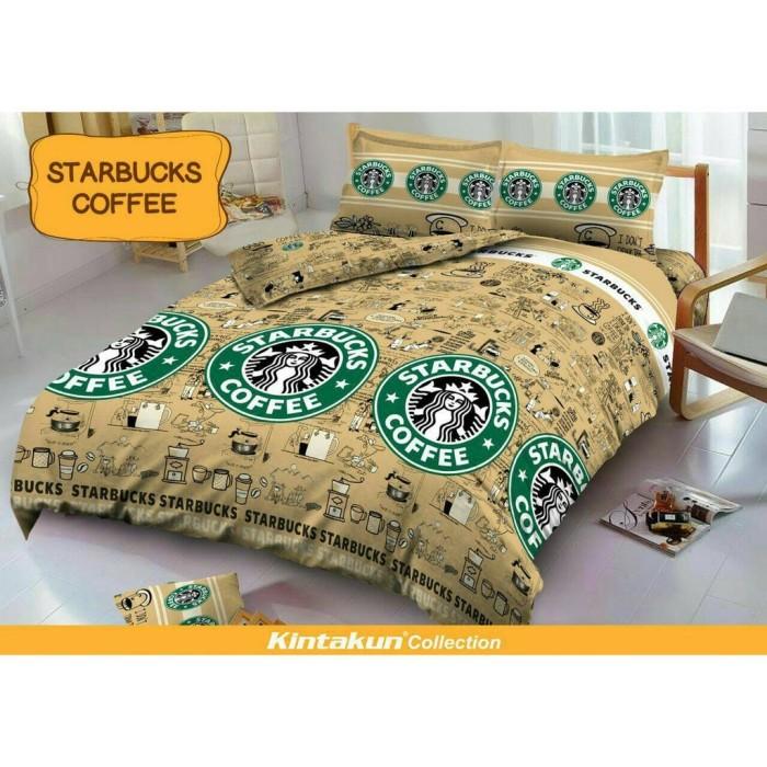 Sprei Queen Kintakun 3D Santika Deluxe / D'luxe Starbucks Coffee