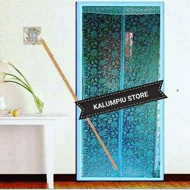 harga Tirai pintu magnet exclusive biru batik Tokopedia.com