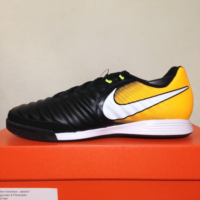 Jual Sepatu Futsal Nike Tiempo X Ligera IV IC Black Orange 897765 ... 80a97af1ad