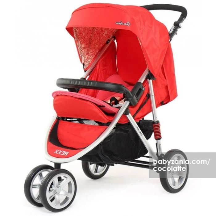 harga Cocolatte stroller bayi cl 481 rexx - merah Tokopedia.com