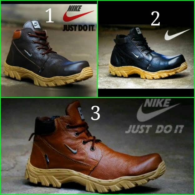 Jual Sepatu Boots Pria Nike Safety ujung besi kulit - Toko Sepatu ... b036e284cb