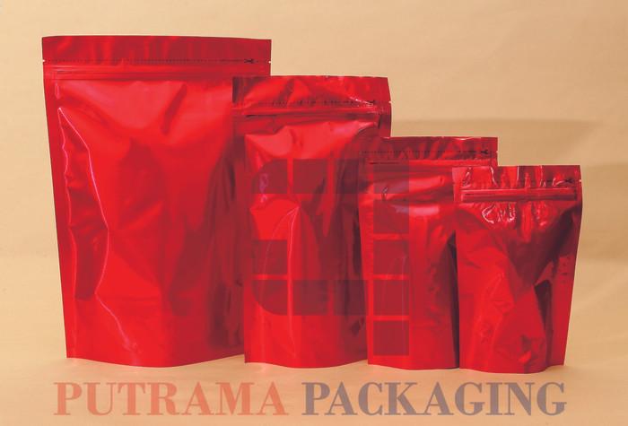 harga Kemasan standing pouch merah 14x23 cm + zipper Tokopedia.com