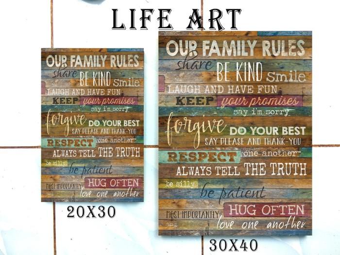 harga Wall decor poster kayu 20x30 termurah - kode family 449 Tokopedia.com