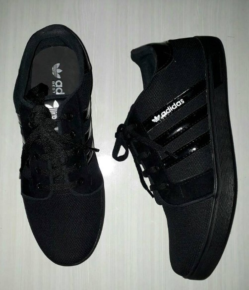 Jual Sepatu Sekolah Anak Laki-laki   Pria Casual Warna Hitam ... 6a17cc6763