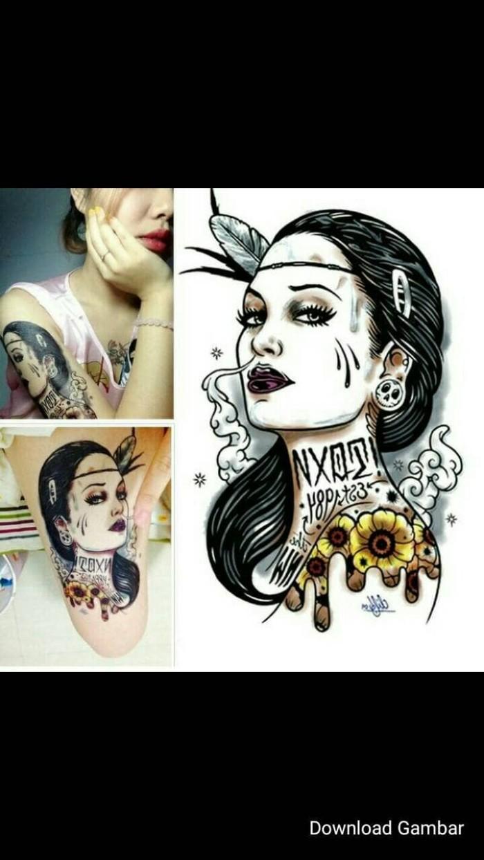 Jual Tato Temporary Tato Sementara Kota Bengkulu Tatto Temporary