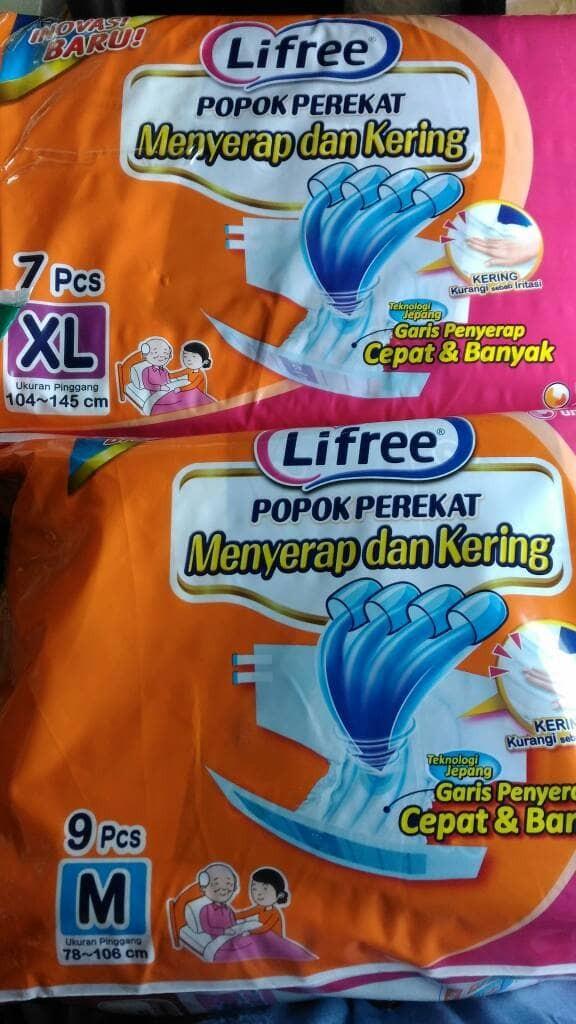 harga Lifree popok perekat dewasa xl 7/ lifree perekat xl7 Tokopedia.com