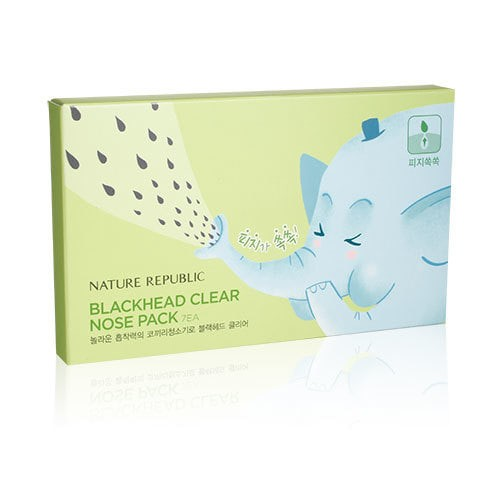 Nature republic blackhead clear nose pack set (7 sheets)