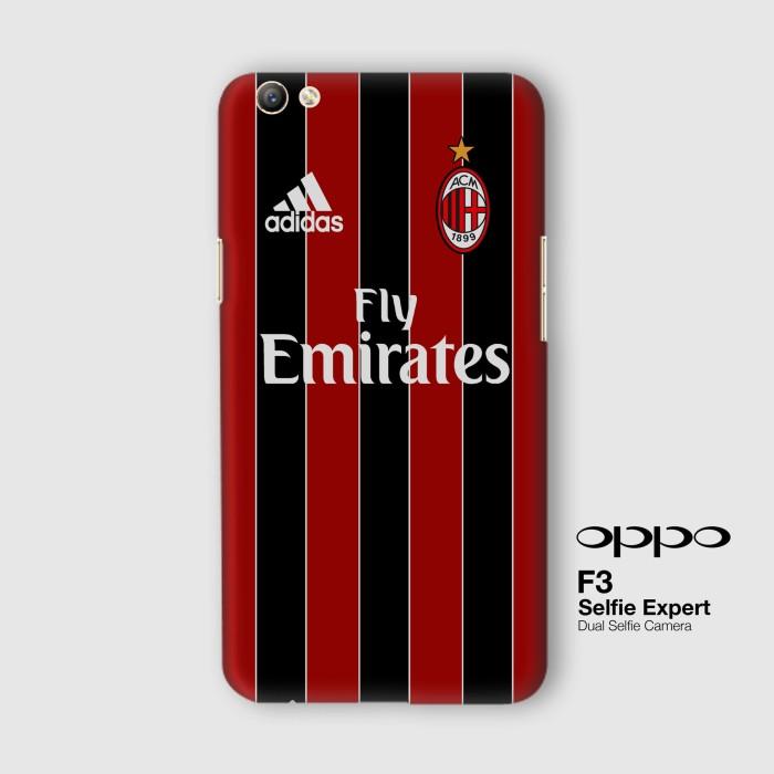 harga Casing Hard Case Oppo F3 Custom Case Ac Milan Jersey Tokopedia.com