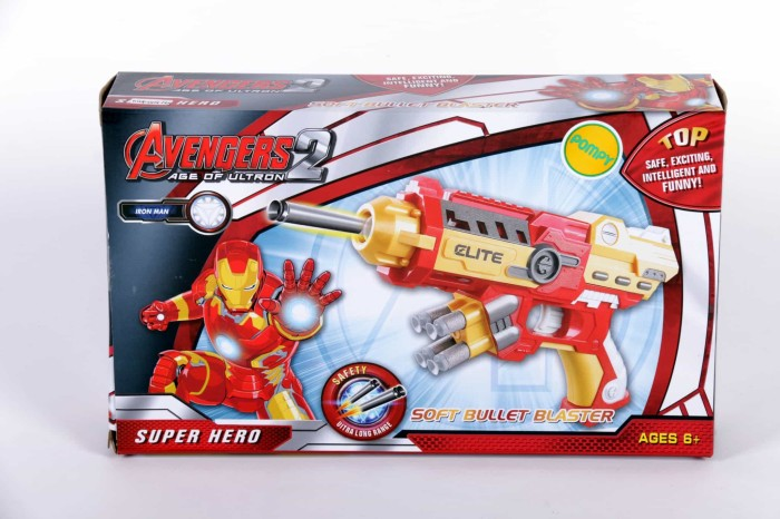 harga Pistol mainan anak / pistol avenger / pistol iron man Tokopedia.com