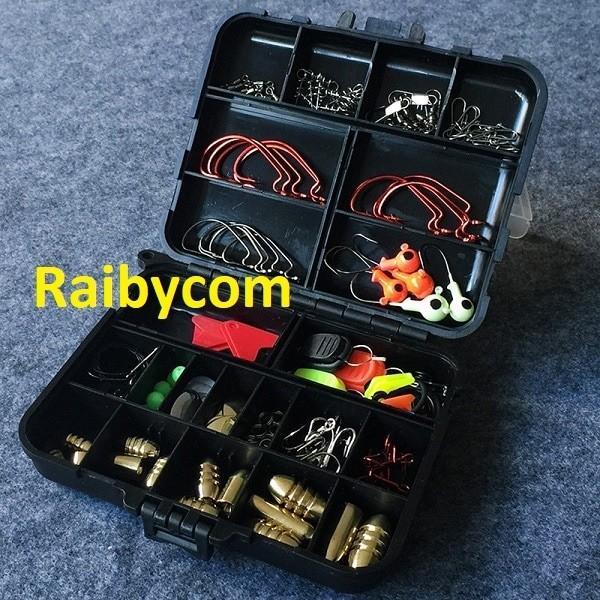 Foto Produk Aksesoris Memancing 128 Pcs 20 Set Alat Mata Pancing Import dari Raibycom