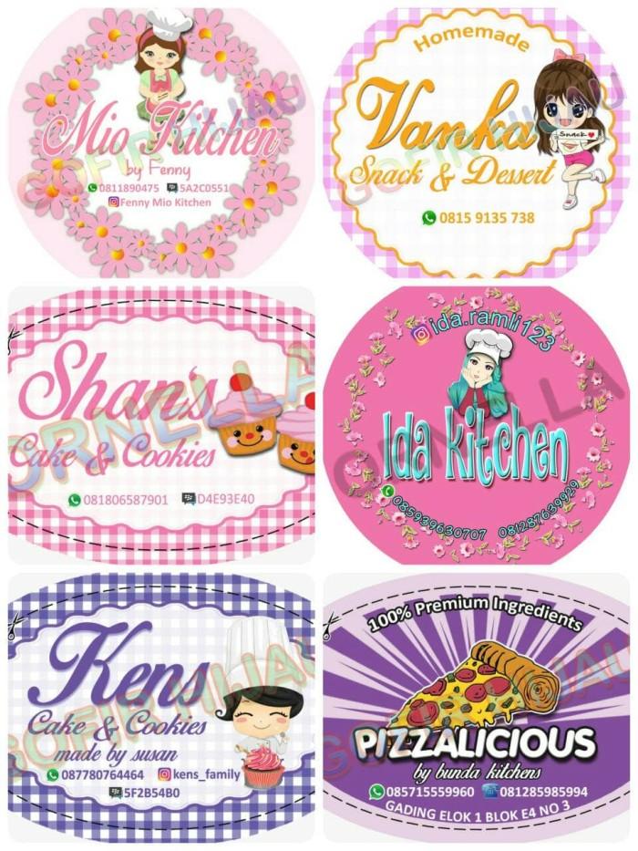 Jual Label Stiker Nama Toko Kue Makanan Sticker Toko Bulat Dki Jakarta Gofir Hijau Tokopedia