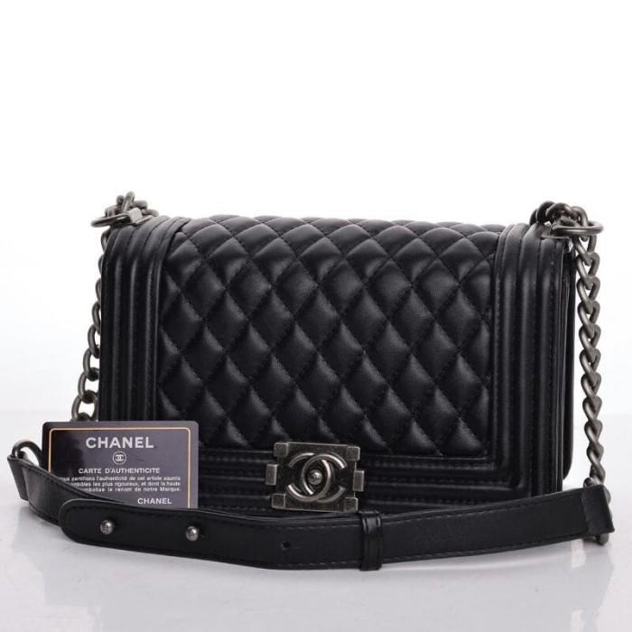 Jual Tas Chanel Boy Classic Medium HITAM Semi Premium AP8001 - Toe ... b236050d47