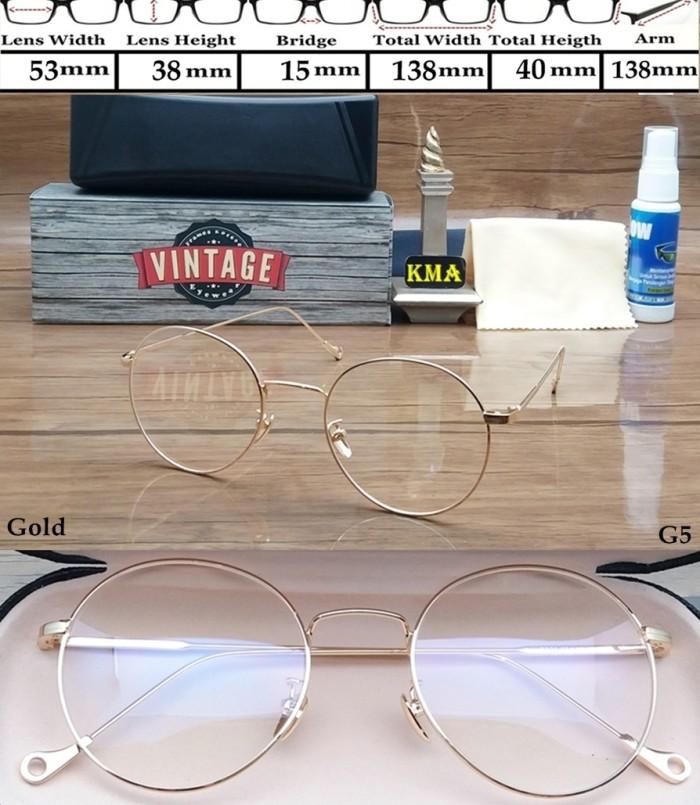 frame kacamata minus VINTAGE frame kacamata korea minus bulat metal