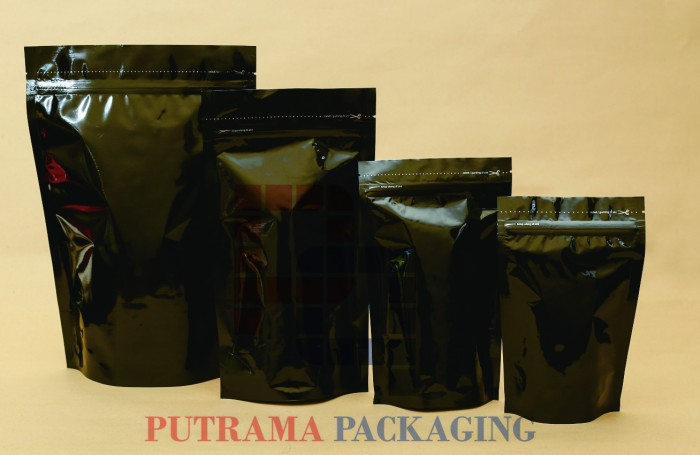 harga Kemasan standing pouch hitam 14x23 cm + valve Tokopedia.com