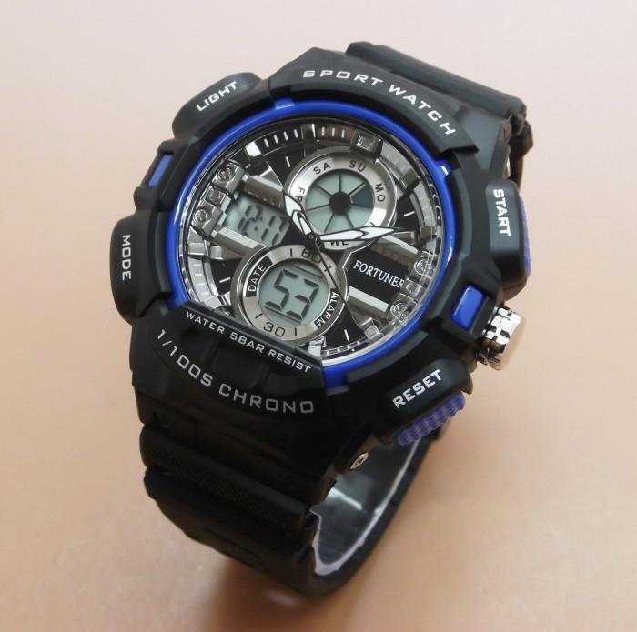harga Jam tangan fortuner ad1604b rubber (black blue) Tokopedia.com