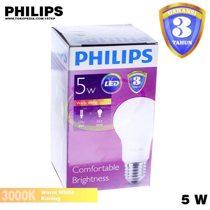 Home; Philips Bohlam Lampu Led Kuning 95 W 2pcs. Lampu LED Philips 5W Kuning