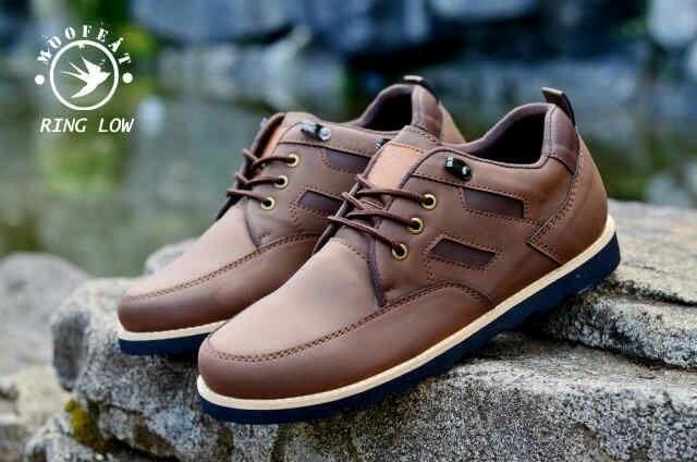 Sepatu pria low boots moofeat triangle import