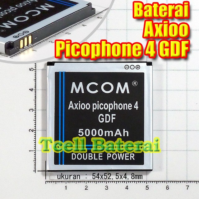 Baterai axioo picophone 4 gdf , mcom