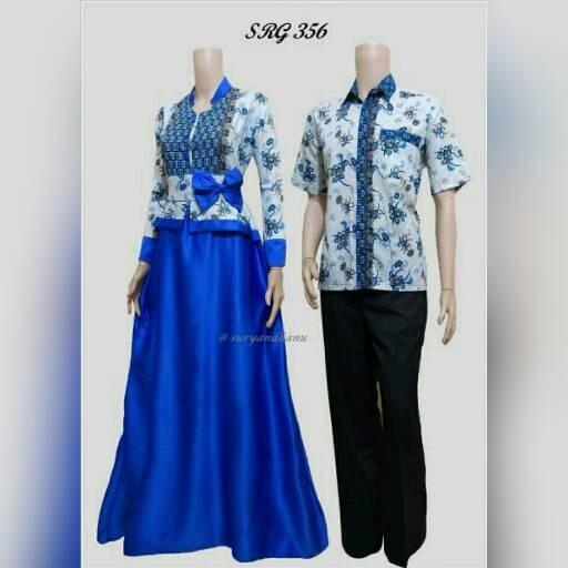 harga Baju batik sarimbit gamis 356 Tokopedia.com