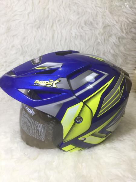 harga Helm 883 motif razor blue medium Tokopedia.com
