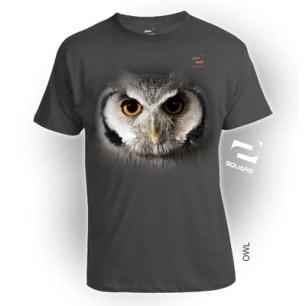 KAOS 3D SQUARE OWL BIG SIZE ( XXL  XXXL )