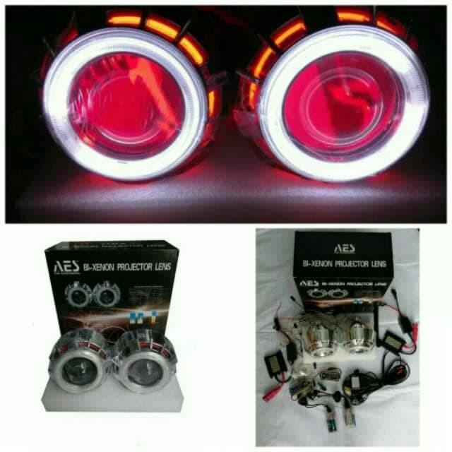 harga Aes - projector hid mobil g1 super double ae merah putih + de merah ga Tokopedia.com