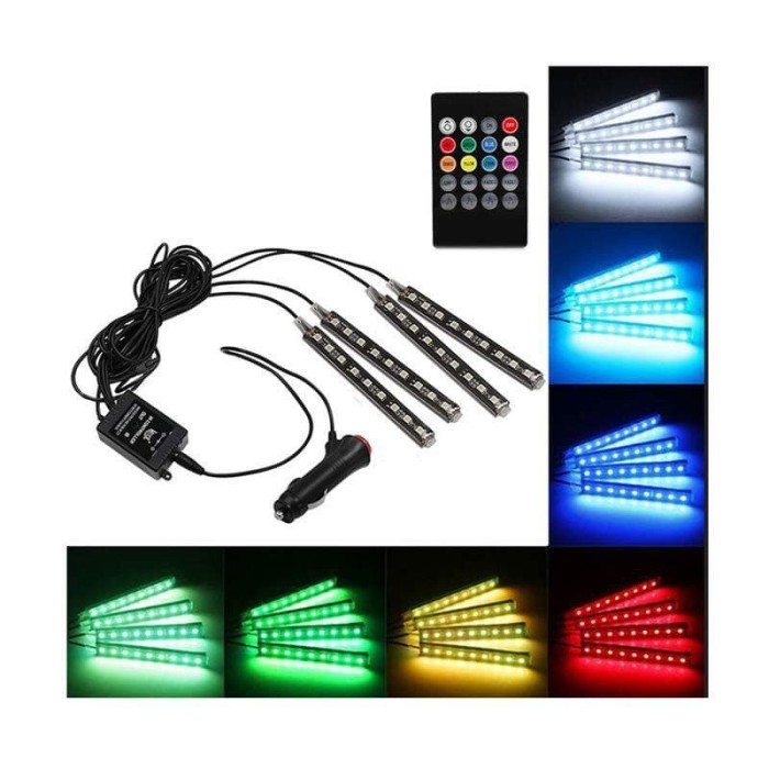 harga Led kolong jok dashboard mobil | lampu led neon rgb with remote contro Tokopedia.com