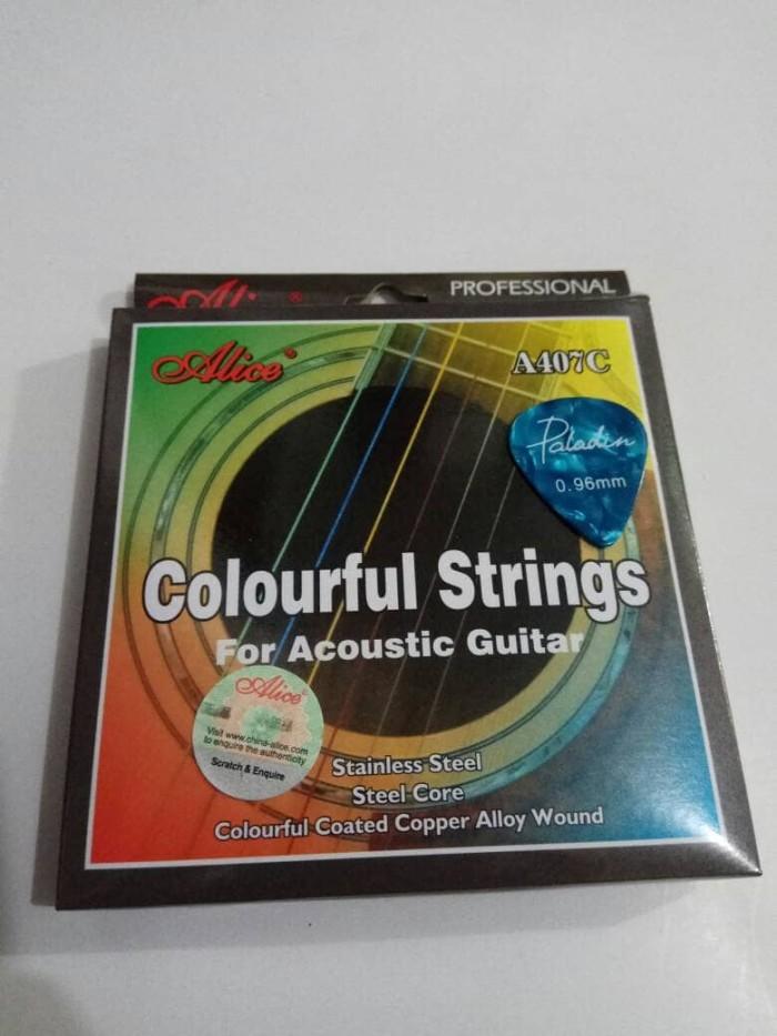harga Senar gitar alice colour akustik 011 + pick gitar 1 pcs Tokopedia.com