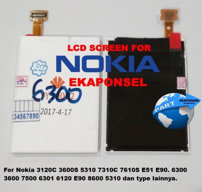 harga Lcd Nokia 6300 6120c  3600s 5320 6500c 7500 8600 E51 Ori Tokopedia.com