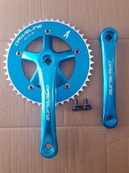 harga Aksesoris sepeda |crank fixie driveline biru 46t Tokopedia.com