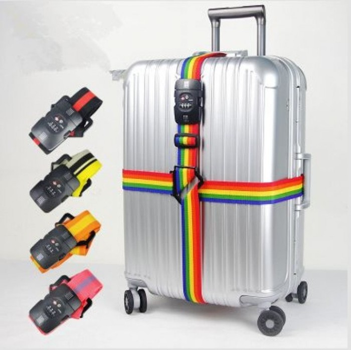 harga Luggage strap belt 3 digit pin with tsa lock tali pengikat koper Tokopedia.com