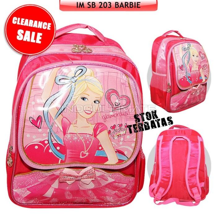 harga Tas sekolah anak/ransel sd karakter printing barbie sb-203 Tokopedia.com