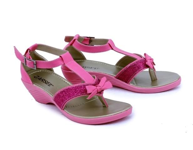harga Sepatu sandal pesta anak perempuan - wedges anak pink cantik lucu gs Tokopedia.com