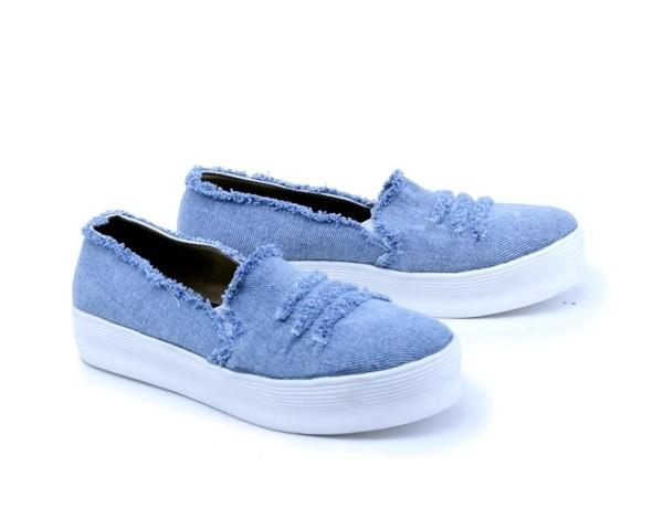 harga Sepatu wanita distro terbaru denim gs sepatu casual main perempuan Tokopedia.com