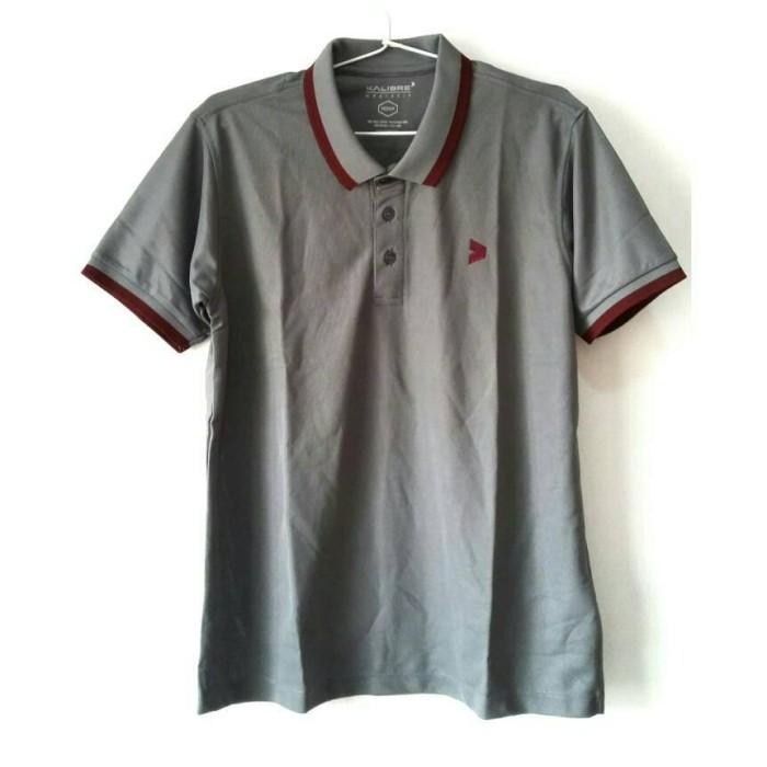 harga Kalibre men polo shirt pria pique microfiber abu strip merah marun Tokopedia.com