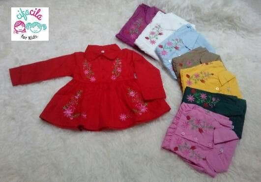 BAJU ANAK/BAJU BAYI DRESS TUNIC BORDIR