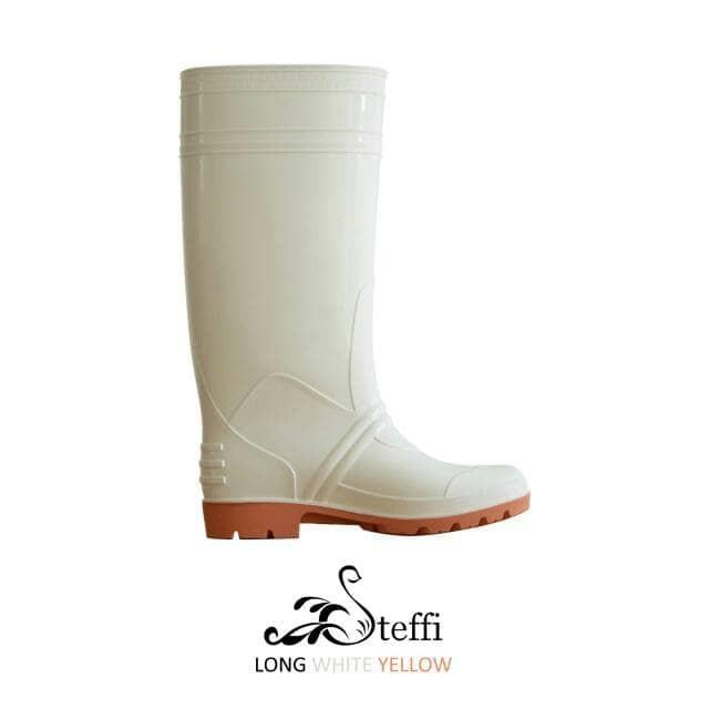 Sepatu Boots Long White Tinggi Putih Murah Kebersihan Proyek Restoran