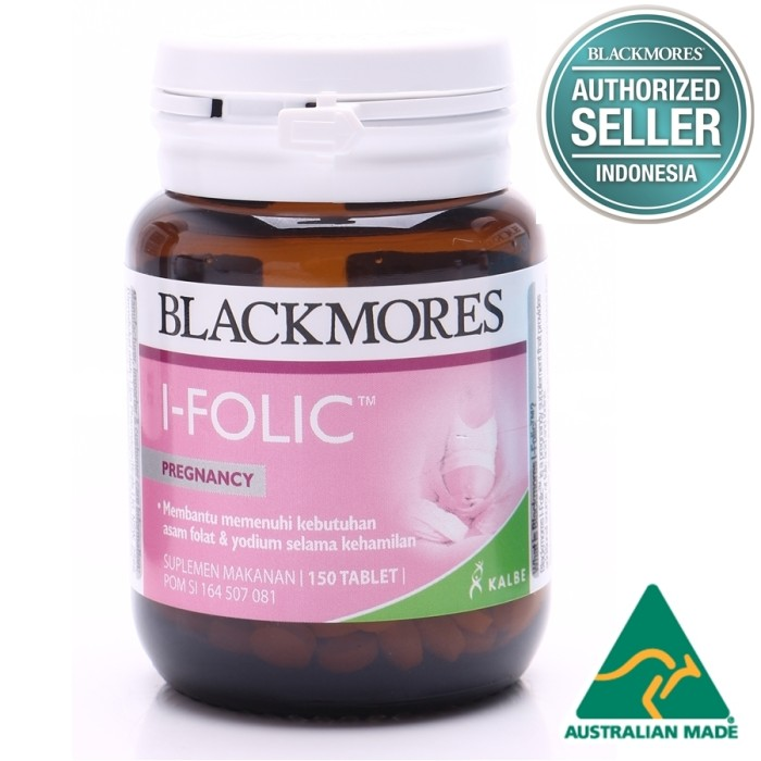 harga Blackmores i-folic pregnancy bpom kalbe 150's - asam folat, obat hamil Tokopedia.com