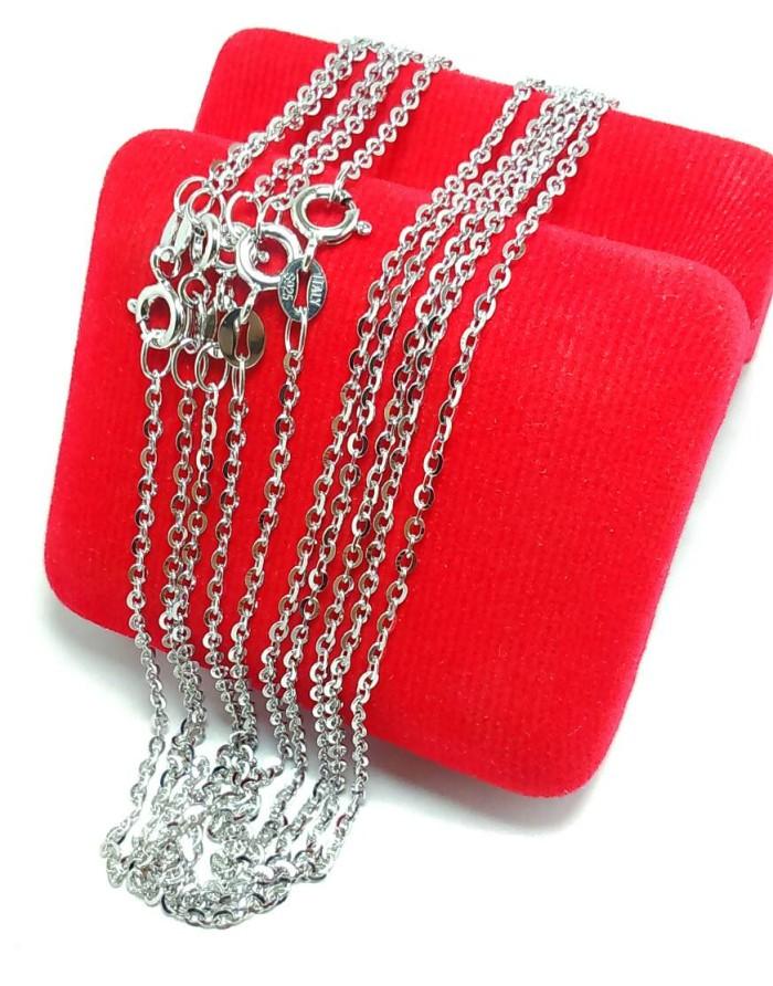 harga Kalung Perak Silver 925 Lapis Emas Putih/perhiasan Kalung Nori Kecil Tokopedia.com