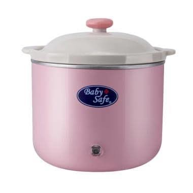 [palet kayu] baby safe - lb009 slow cooker 0.8l pink (light…