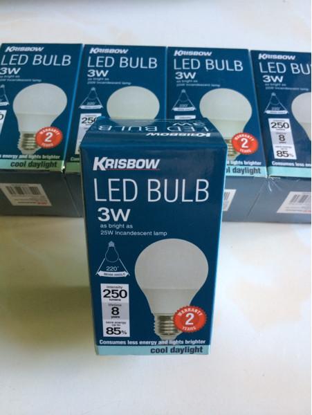 Foto Produk Lampu LED Bulb 3W merk Krisbow 250Lumens dari Alat POS Kasir