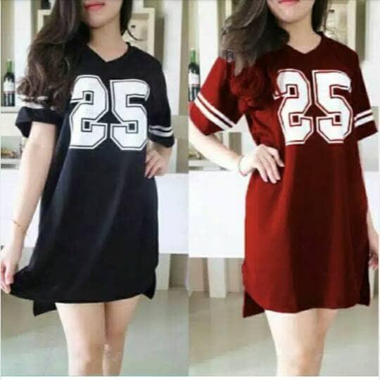 Jual Dress Kaos Dress Angka Mini Dress Murah Baju Wanita Baju Murah