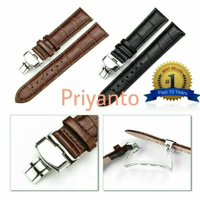 harga Tali jam tangan kulit butterfly clasp bucle samsung Tokopedia.com