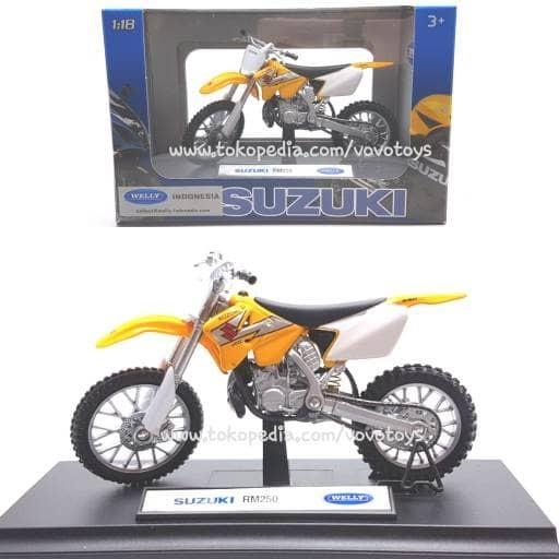 harga Welly 1:18 miniatur motor suzuki rm250 Tokopedia.com