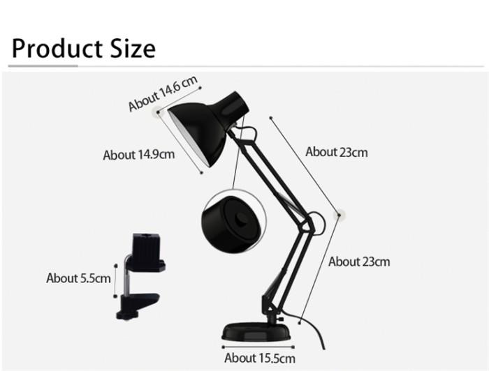 harga Lampu meja / lampu belajar jepit model arsitek Tokopedia.com