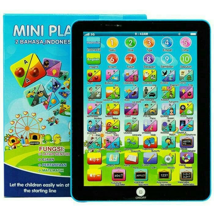 Mini Playpad 2 Bahasa Ipad Mini Mainan Tablet Anak Edukatif Murah