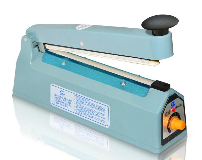 Alat Press Plastik Q2 Impulse sealer PFS- 200 - Biru [20 cm]