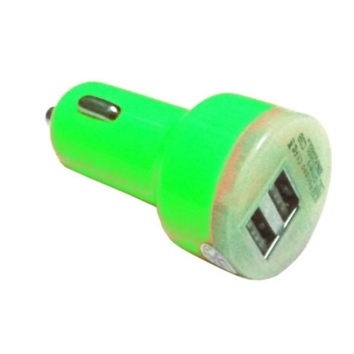Mediatech car charger mcc 02 hijau ( 66909-09 )
